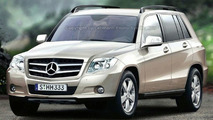 Mercedes GLK Computer Illustrations