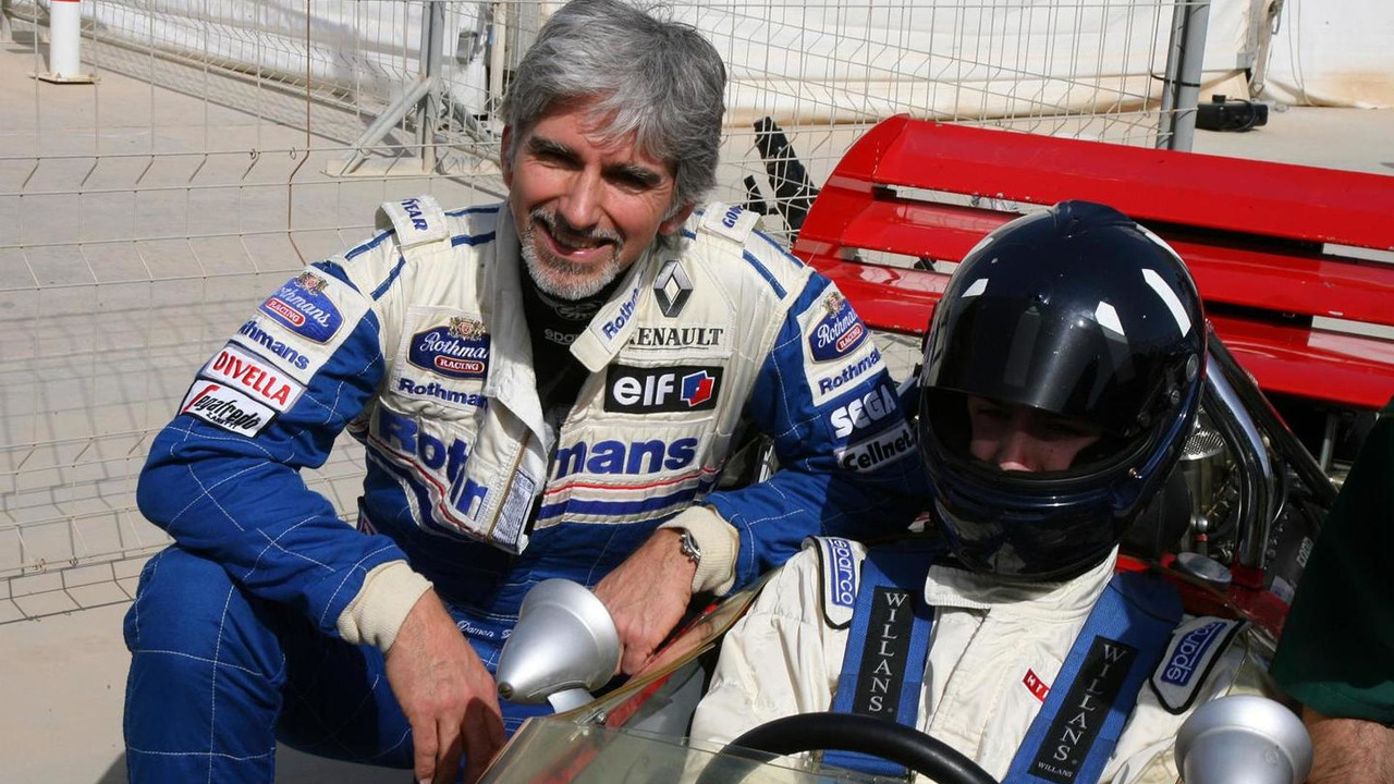 Damon Hill with his son Josh