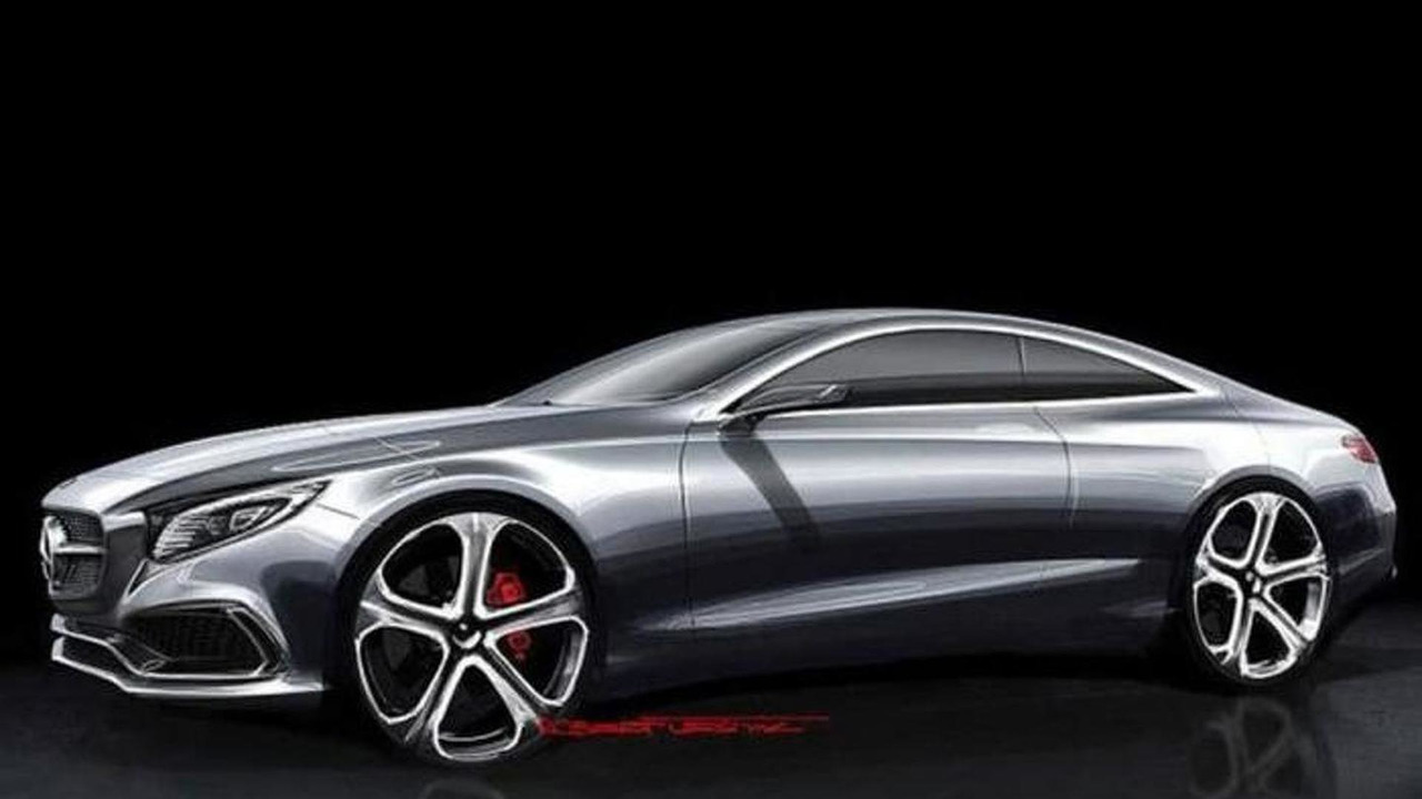 Mercedes-Benz S-Class Coupe concept design sketch (not confirmed) 05.09.2013