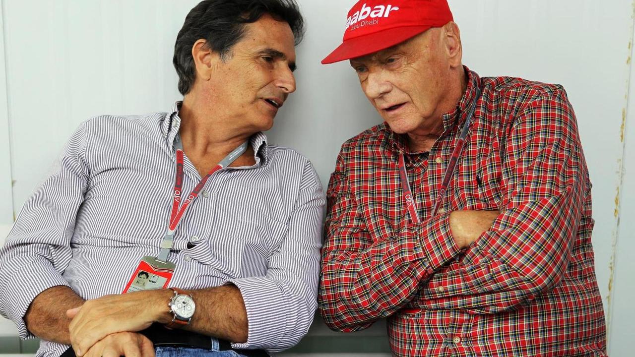 Nelson Piquet with Niki Lauda 25.11.2012 Brazilian Grand Prix