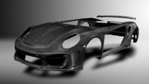 Tuner previews carbon fiber body for Porsche 911 Turbo