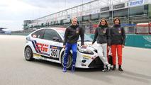 Jarr-Matti Latvala with team-mates Anja Wassertheurer and Daniela Schmid