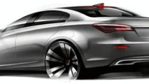 Roewe N1 Concept Sketch