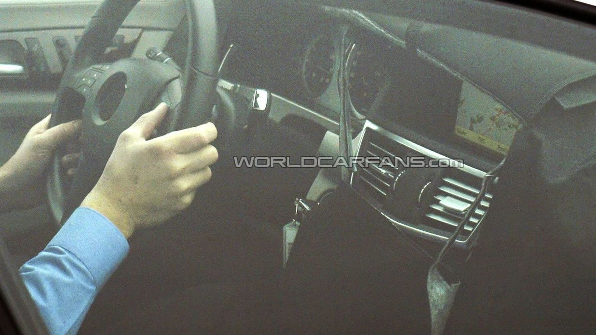 2011 Mercedes CLS Prototype Caught with Slightly Uncovered Interior