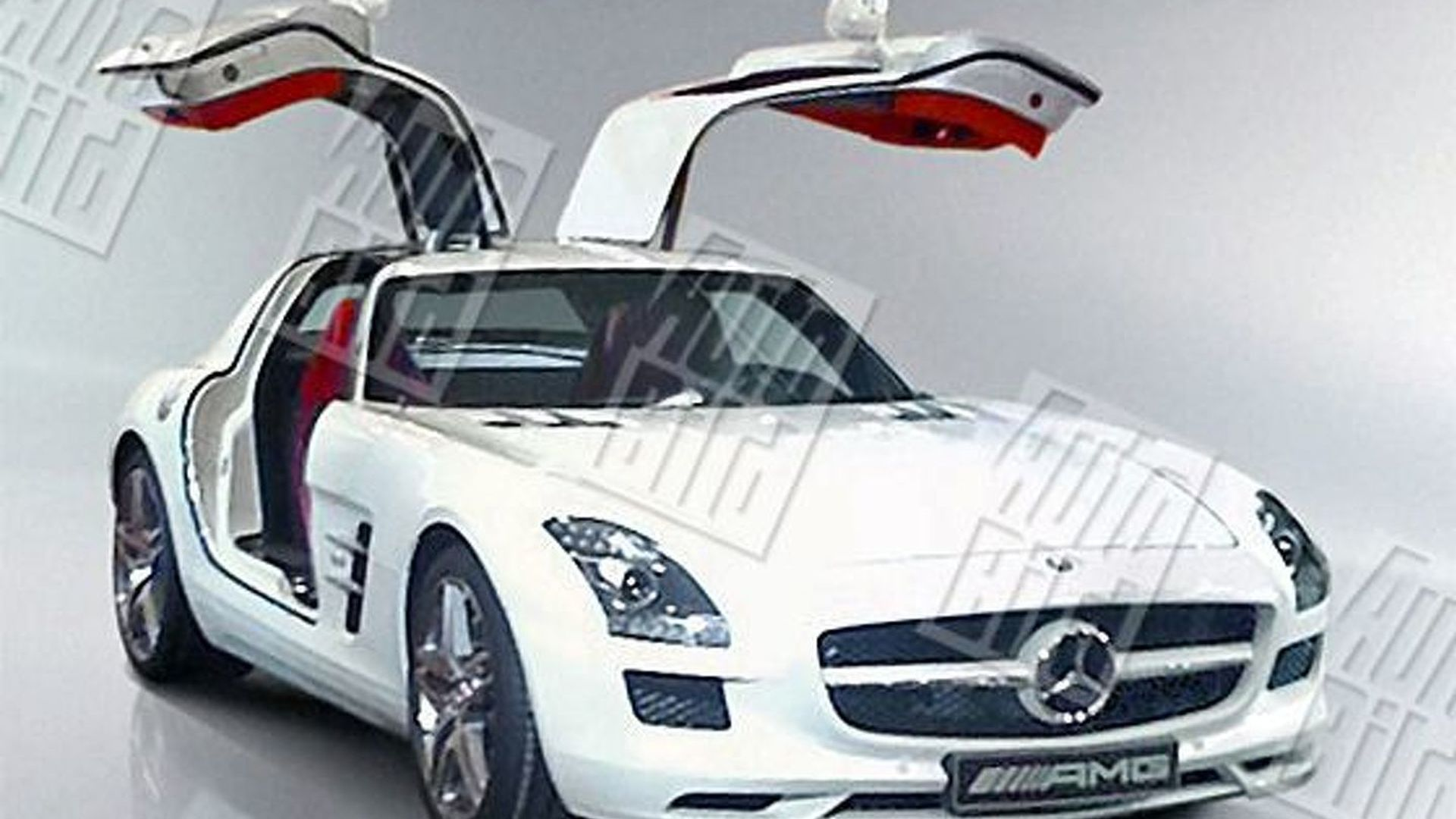 Autobild unleashes more mercedes sls amg gullwing images for Mercedes benz amg gullwing