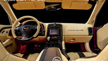 Chevrolet Corvette C6 Convertible interior customized by Carlex Design Europe