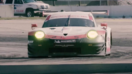 Watch Porsche 911 RSR Wrestle With Sebring In Slo-mo