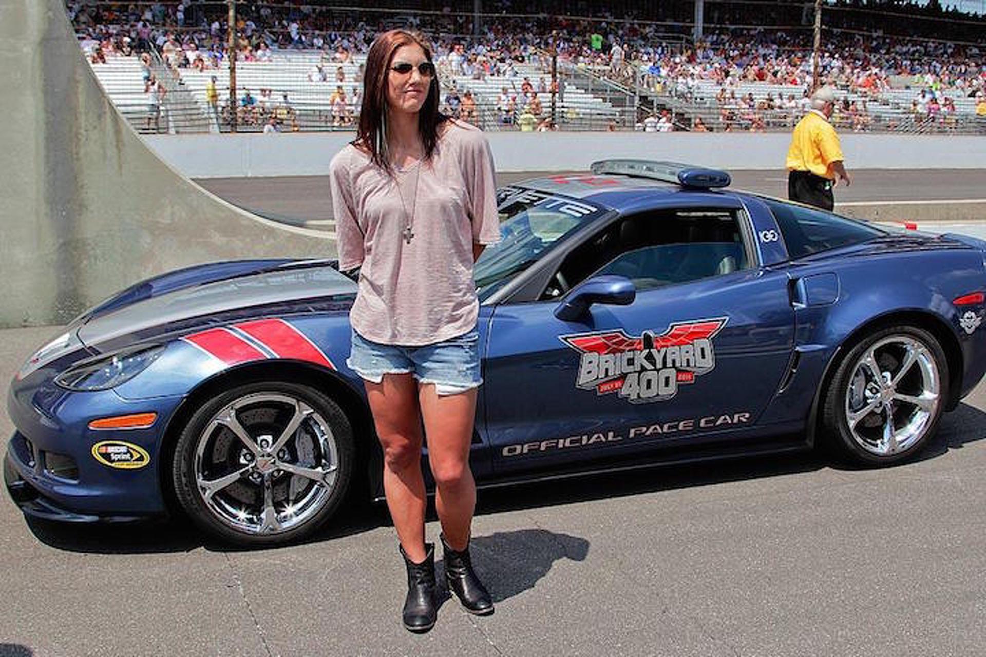 Remember When Hope Solo Drove a Corvette Pace Car?