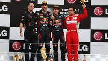 Adrian Newey, Mark Webber, Sebastian Vettel, Fernando Alonso, Korean Grand Prix, 14.10.2012