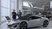 Jerry Seinfeld, Acura NSX, Super Bowl commercial screenshot 30.01.2012