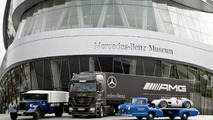 Mercedes Honours 75 Years of Race Car Carriers