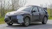 Alfa Romeo Stelvio spied looking like a Giulia on stilts