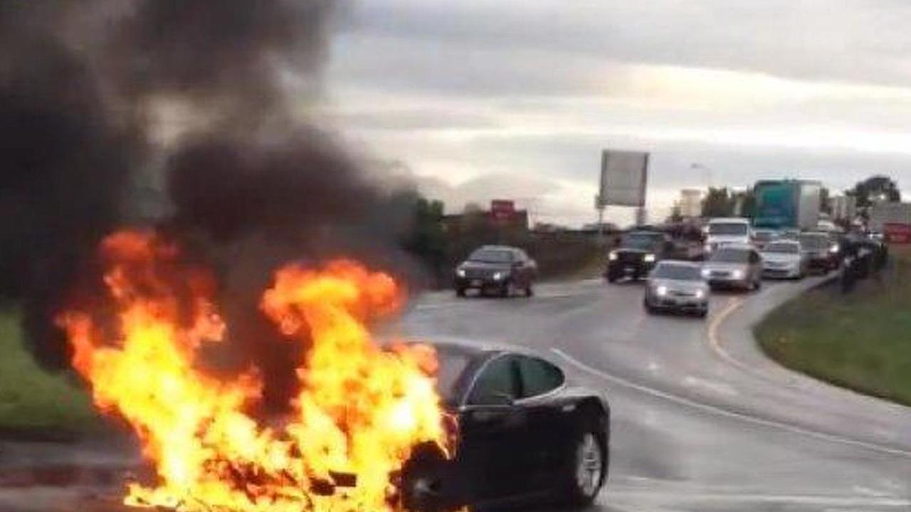 Tesla Model S fire
