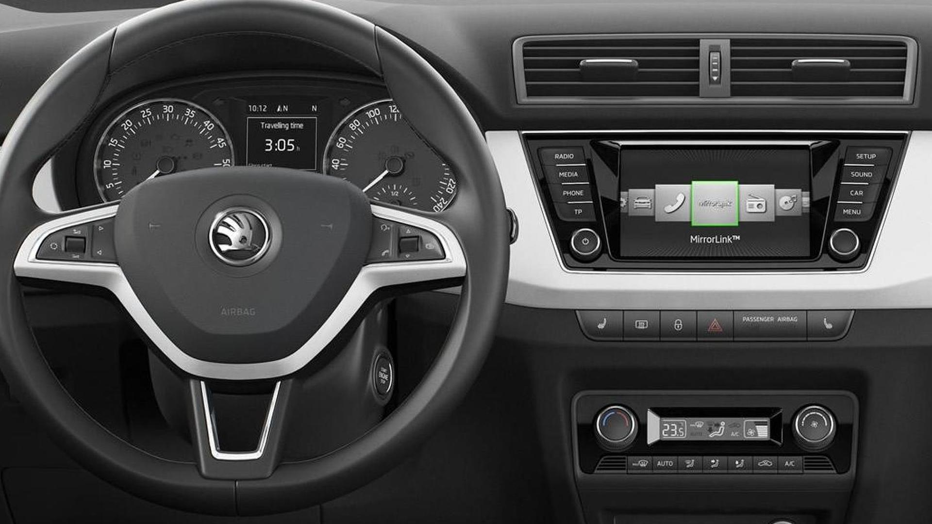 2015 Skoda Fabia dashboard revealed