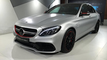 Mercedes-AMG C63 S Edition 1 photographed up close and personal