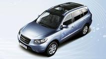 Hyundai Santa Fe blue Hybrid