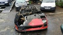 Une Ferrari F40 part en fumée juste après sa restauration