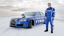 Nokian Tyres Audi RS6 breaks again the fastest car on ice world record with 335.713 km/h [video]