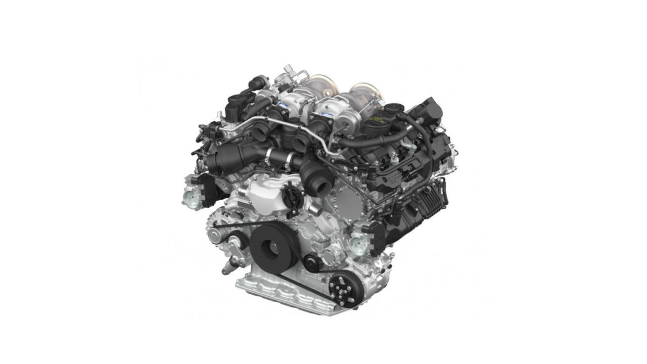 Porsche biturbo V8 engine