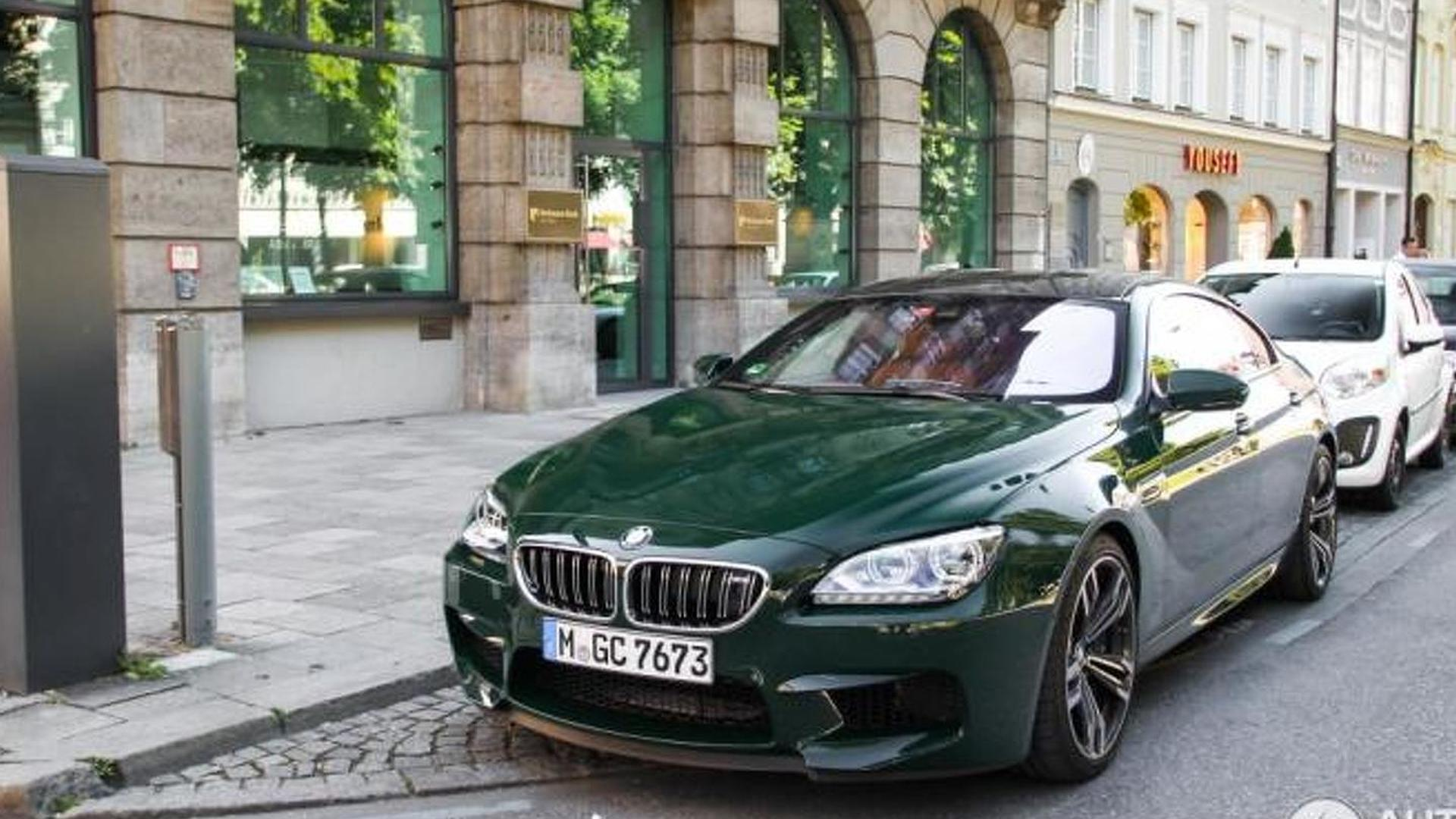 BMW M6 Gran Coupe with green paint is a rare sight