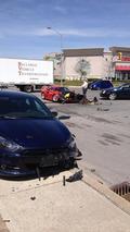 Dodge Dart runs a red light and smashes into Ferrari F40 [videos]
