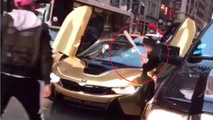 Angry guy smashes BMW i8 windshield - but was it staged?