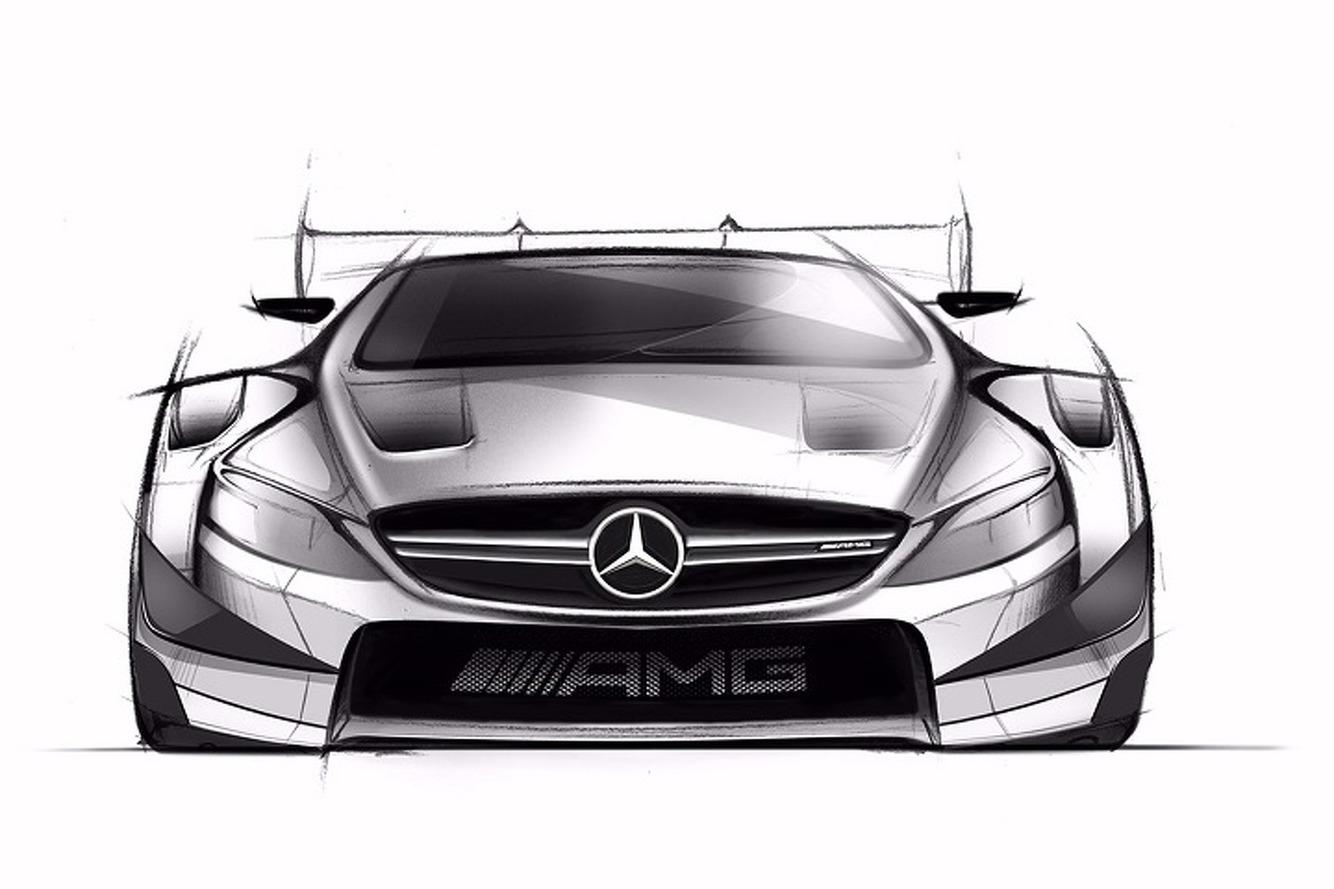 Mercedes-Benz Teases Menacing C63 DTM Racecar