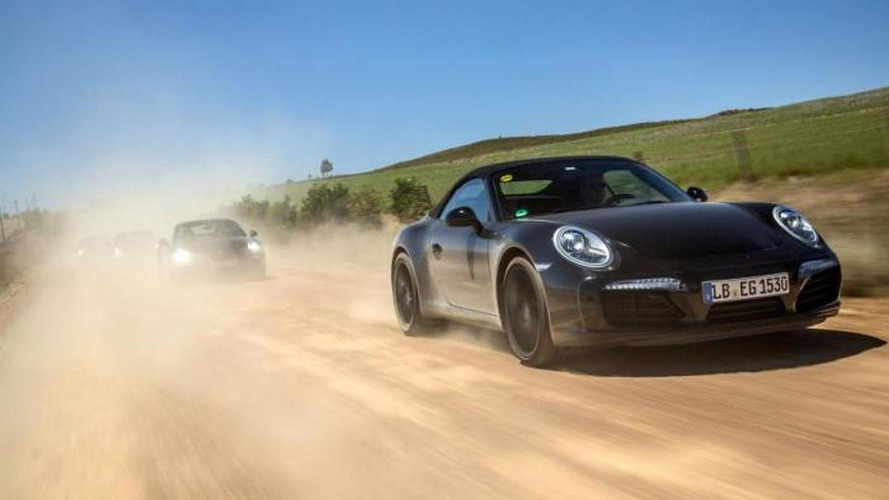 Porsche teases 911 facelift with lightly camouflaged prototypes testing in South Africa (19 photos)