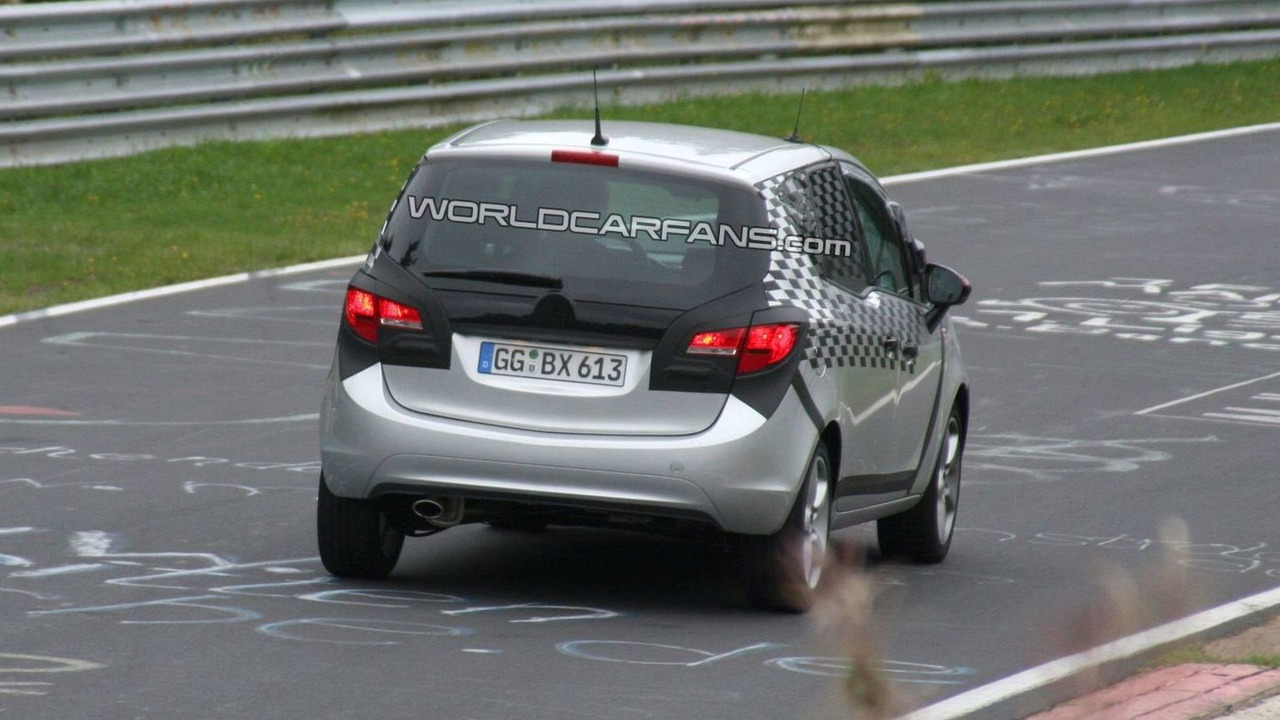 2010 Opel Meriva spy photo, Nurburgring