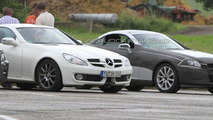 2012 Mercedes SLK spied next to current model