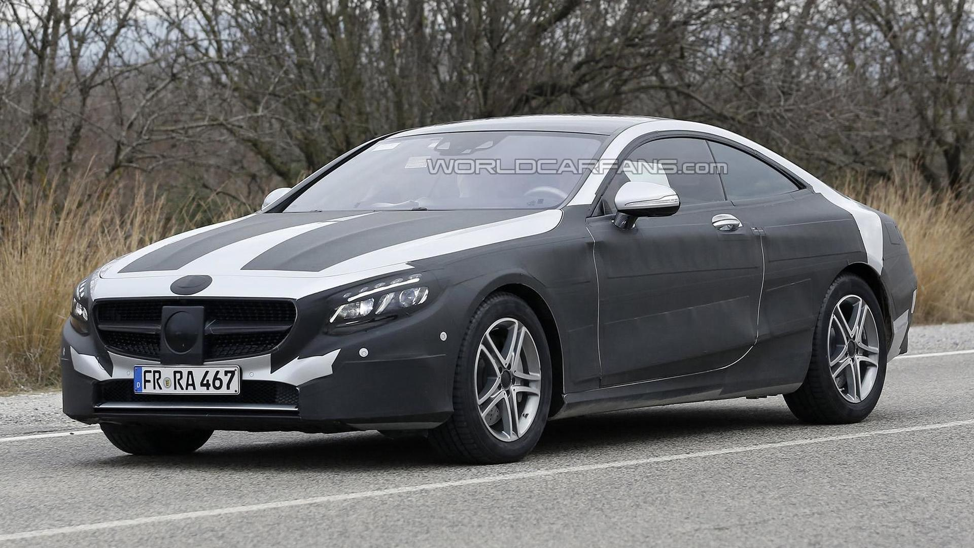 2014 Mercedes-Benz S-Class Coupe spied in four different locations in Europe