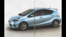 Vazam fotos do Novo Toyota Prius C - Hatch hibrído terá consumo de 40 km/litro