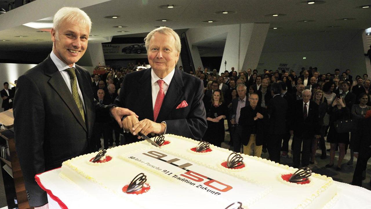 Dr. Wolfgang Porsche and Matthias Müller open the Porsche Museum 50 Years of 911 anniversary exhibition 05.6.2013