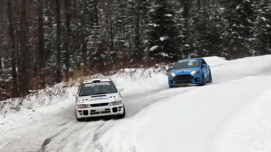 VIDÉO - La Focus RS affronte une Subaru de rallye sous la neige