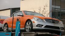 Orange & Silver Mercedes E-Class Cabrio Caught on Delivery Truck