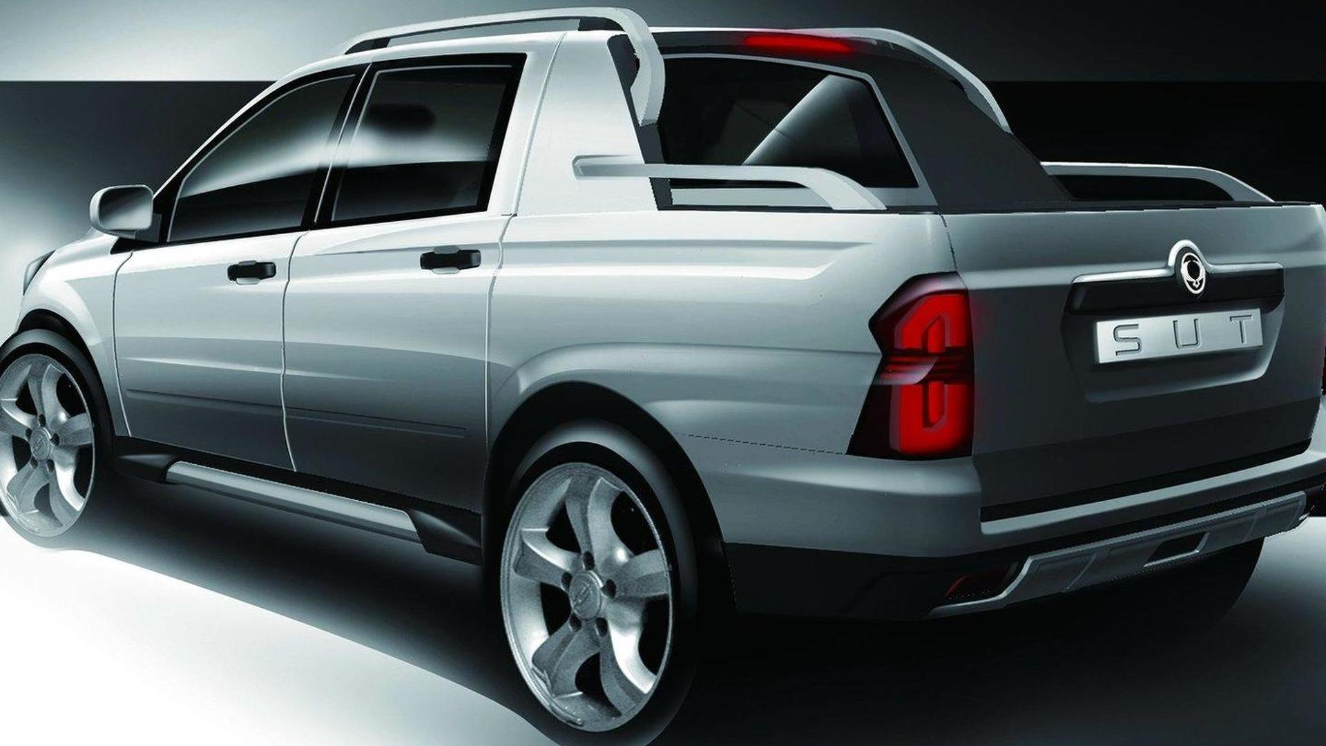 SsangYong SUT 1 Concept set for Geneva debut