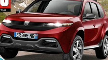 2017 Dacia Duster rendering / Auto Plus magazine