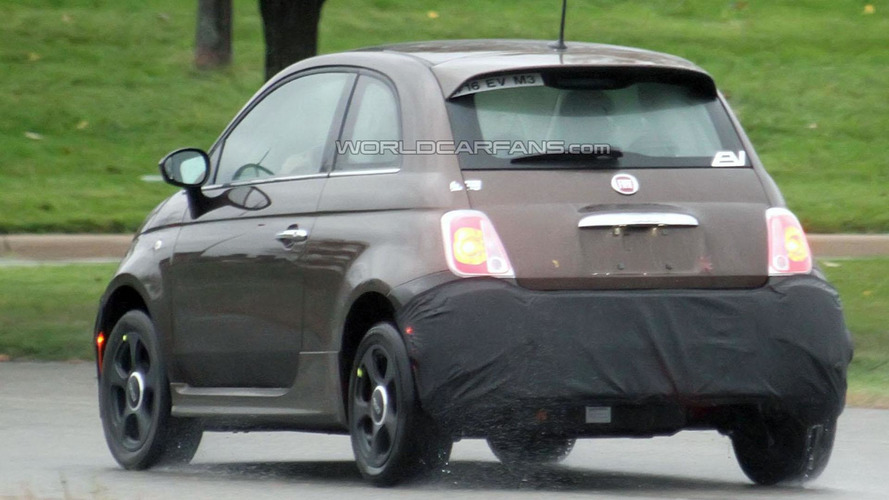 Fiat 500 EV spied in Michigan