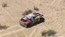 #314 Peugeot: Sébastien Loeb, Daniel Elena stuck in a dune in the stage
