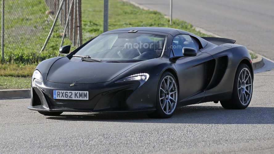McLaren 675LT Spider spied, could be introduced next year