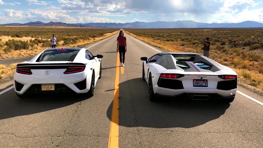 VIDÉO - Une Honda NSX est-elle plus rapide qu'une Lamborghini Aventador ?
