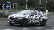 Jaguar crossover mule spied undergoing testing in England