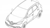 Renault Captur production version revealed in design sketches