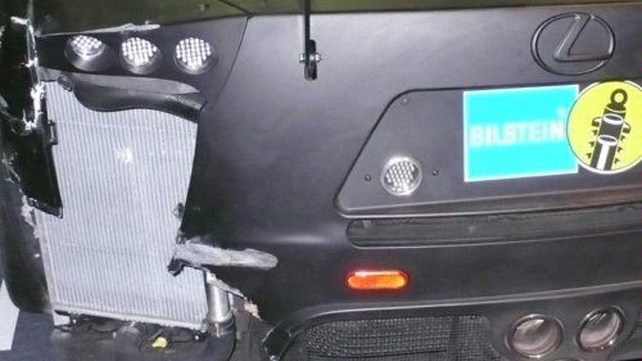 Lexus LF-A Nürburgring 24 crash damage