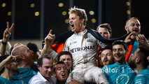 Nico Rosberg, Mercedes AMG F1 celebrates his first Drivers World Championship title