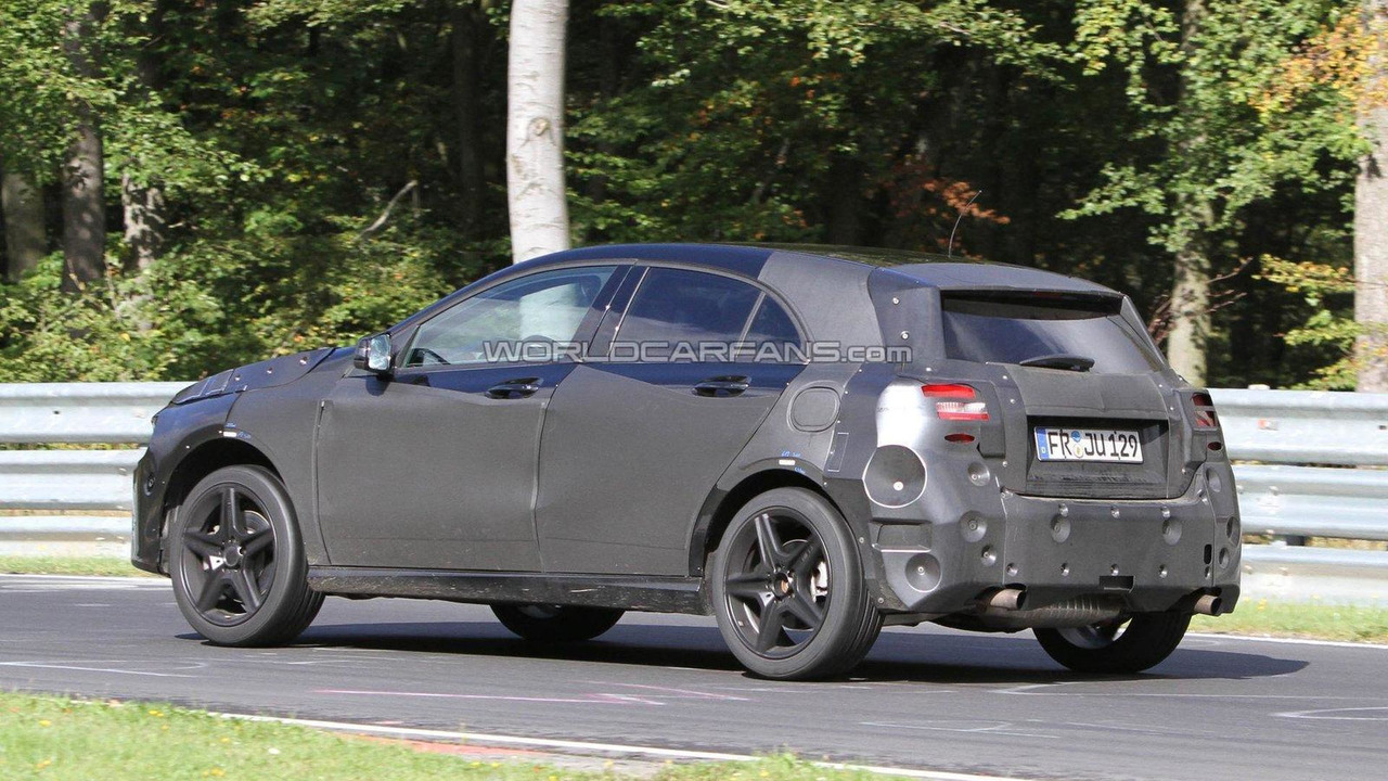 2013 Mercedes-Benz A-Class AMG spied on the ring 22.09.2011