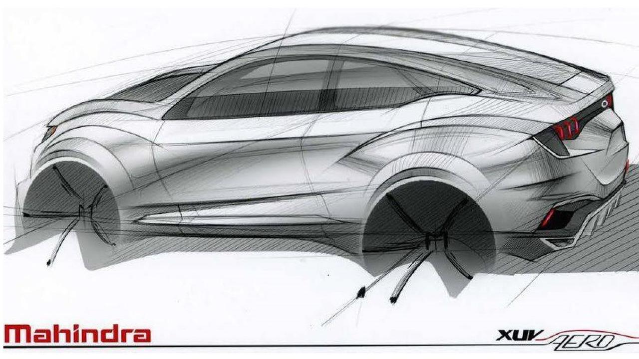 Mahindra XAV Aero concept teaser image