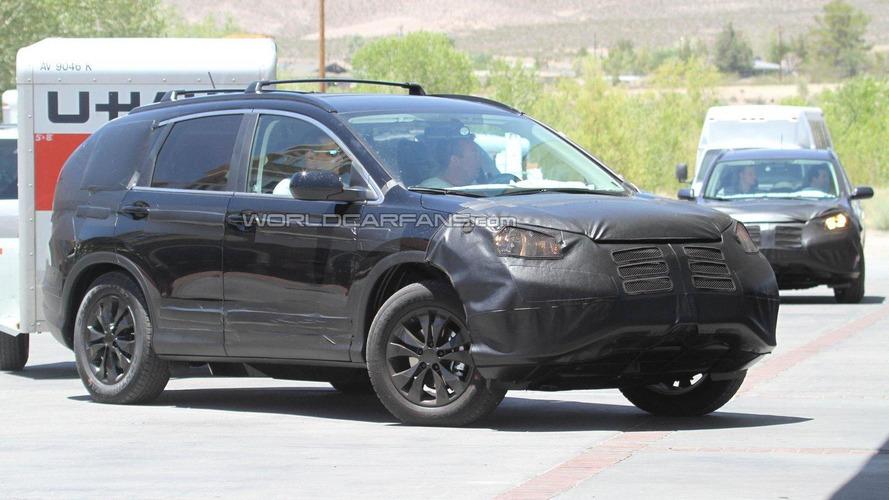 2012 Honda CR-V spied hot-weather testing
