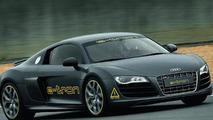 Audi e-tron wrapped in the skin of an R8 in the Silvretta E-Auto Rally Montafon 2010 09.07.2010