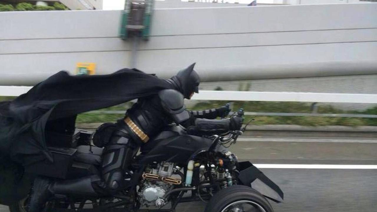 Batman on his batmobile
